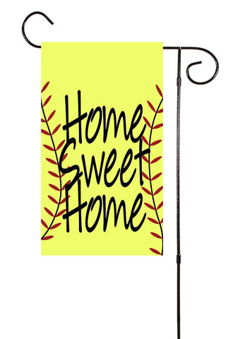 Home Sweet Home Baseball or Softball Garden Flag