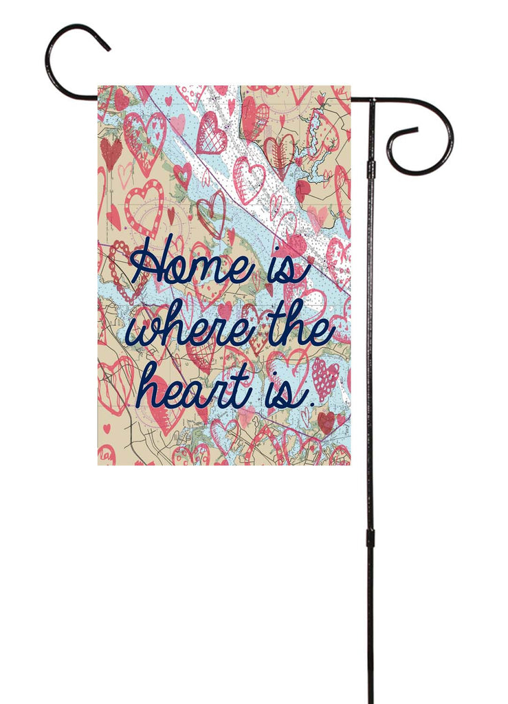 Home Is Where The Heart Is Nautical Garden Flag