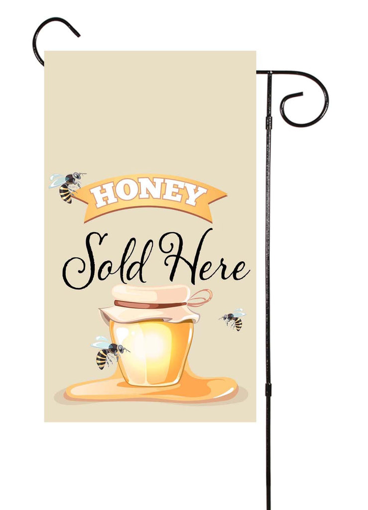 Honey Sold Here Bee Garden Flag