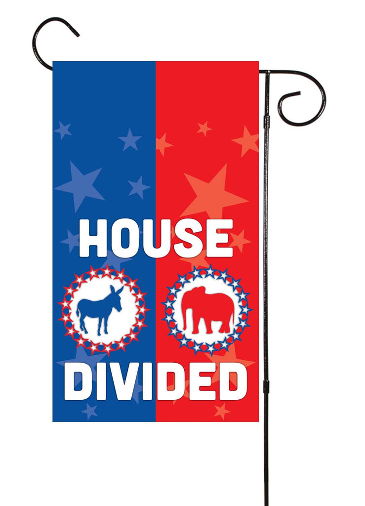 Superbe House Divided Political Garden Flag U2013 Shut The Front Door By Unique Textile  Printing