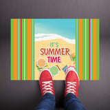 It's Summer Time Beach Welcome Mat