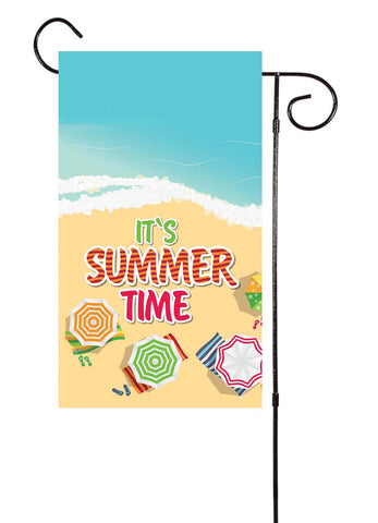 It's Summer Time Beach Garden Flag