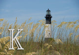 Nautical Lighthouse Initial Welcome Mat