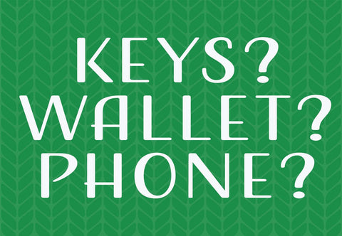 Keys? Wallet? Phone? Welcome Mat