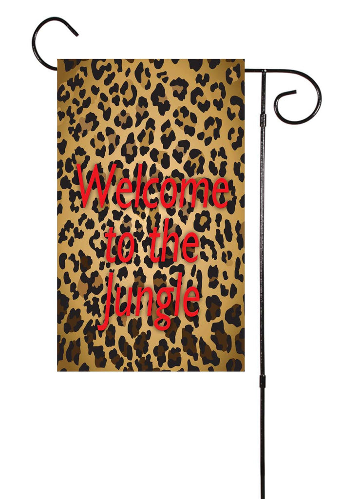 Leopard - Welcome To The Jungle Garden Flag