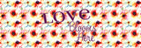 Love Blooms Here Floral Watercolor Bed Runner