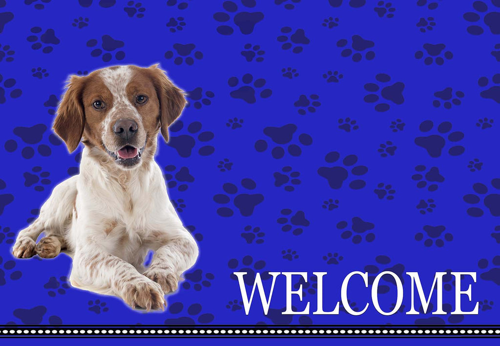 Brittany Spaniel Dog Welcome Mat