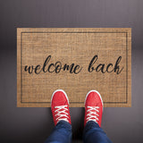 Welcome Back Burlap Welcome Mat