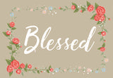Blessed Floral Welcome Mat