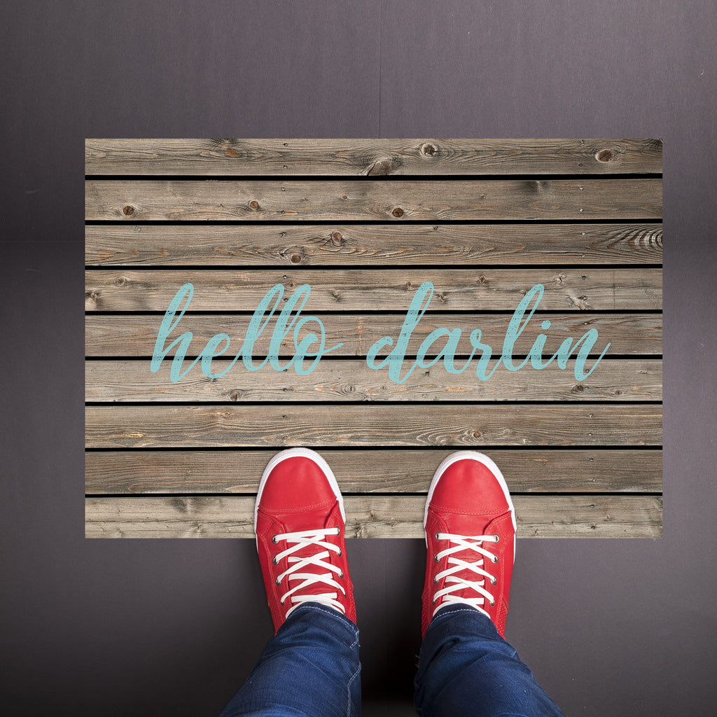 Hello Darling Welcome Mat