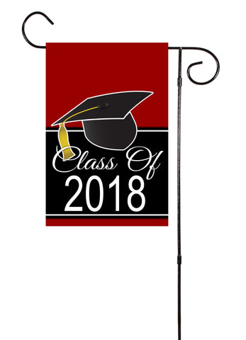 Graduation Class of 2018 Plain or Chevron Garden Flag
