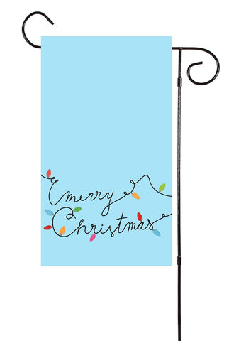 Baby Blue Merry Christmas Garden Flag