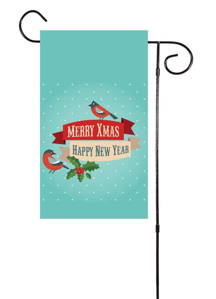 Merry Christmas & Happy New Year Garden Flag