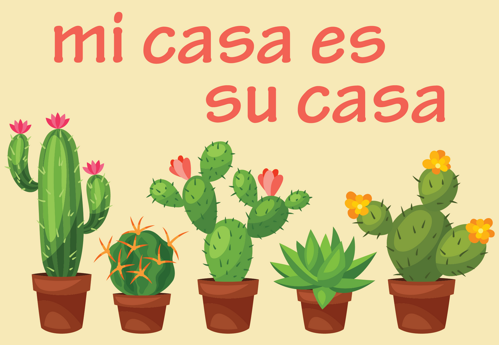 Mi Case Es Su Casa Cactus Welcome Mat Shut The Front