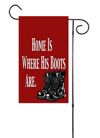 Military Boots Garden Flag