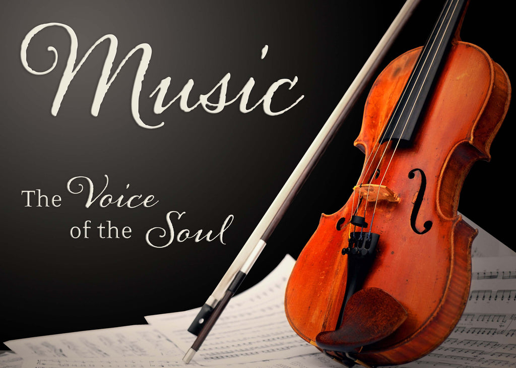 Music - The Voice Of The Soul Vinyl Print