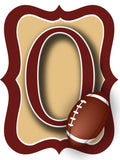 Garnett & Gold Football Door Hanger
