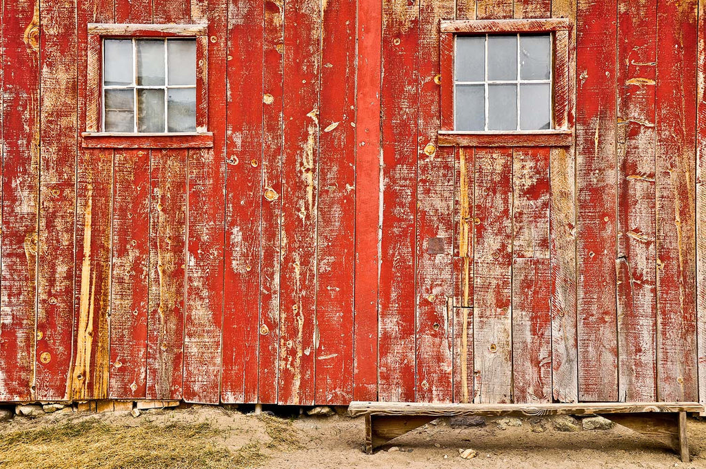 Old Red Barn Vinyl Print