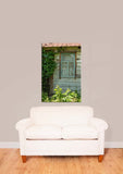 Rustic Wooden Window Vinyl Print