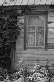 Rustic Wooden Window Black & White Vinyl Print