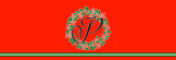 Christmas Holly Berry Wreath Initial Bed Runner