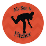 My Son Is Pitcher Sticker