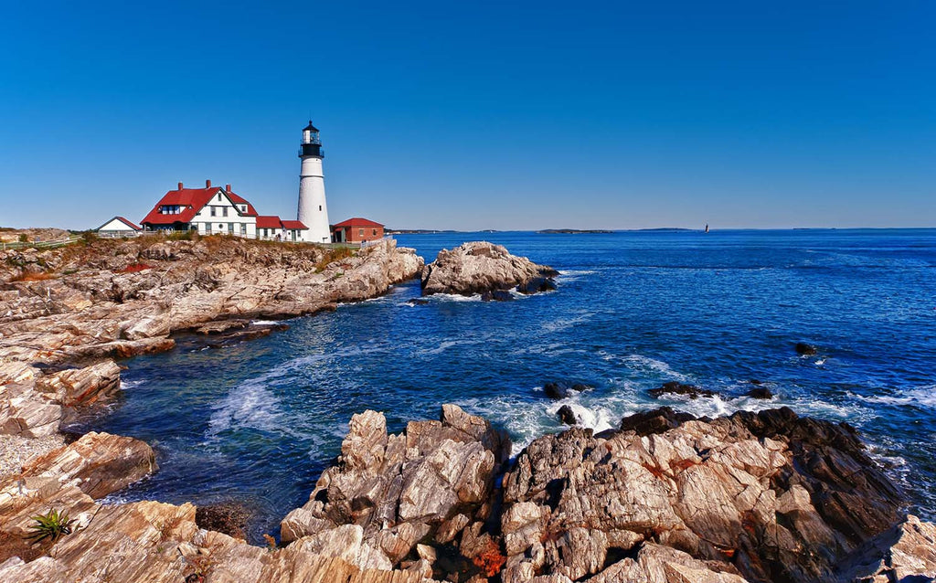 Portland Head Lighthouse in Cape Elizabeth, Maine Vinyl Print