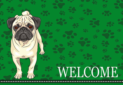 Pug Welcome Mat