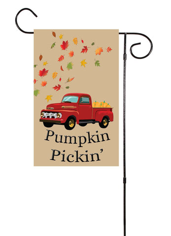 Pumpkin Pickin' - Old Truck Fall/Halloween Garden Flag