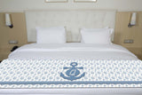 Ship Wheels & Anchors Initial Bed Runner