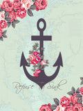Refuse To Sink with Map - Sailcloth Print