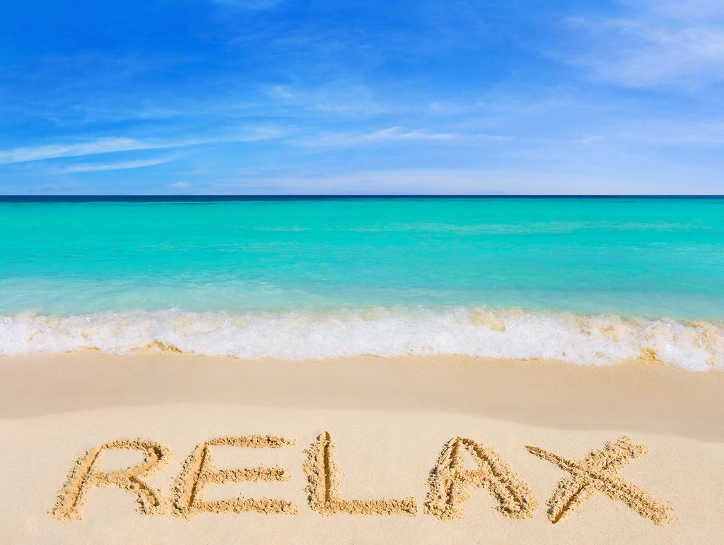 Relax In The Sand Vinyl Print