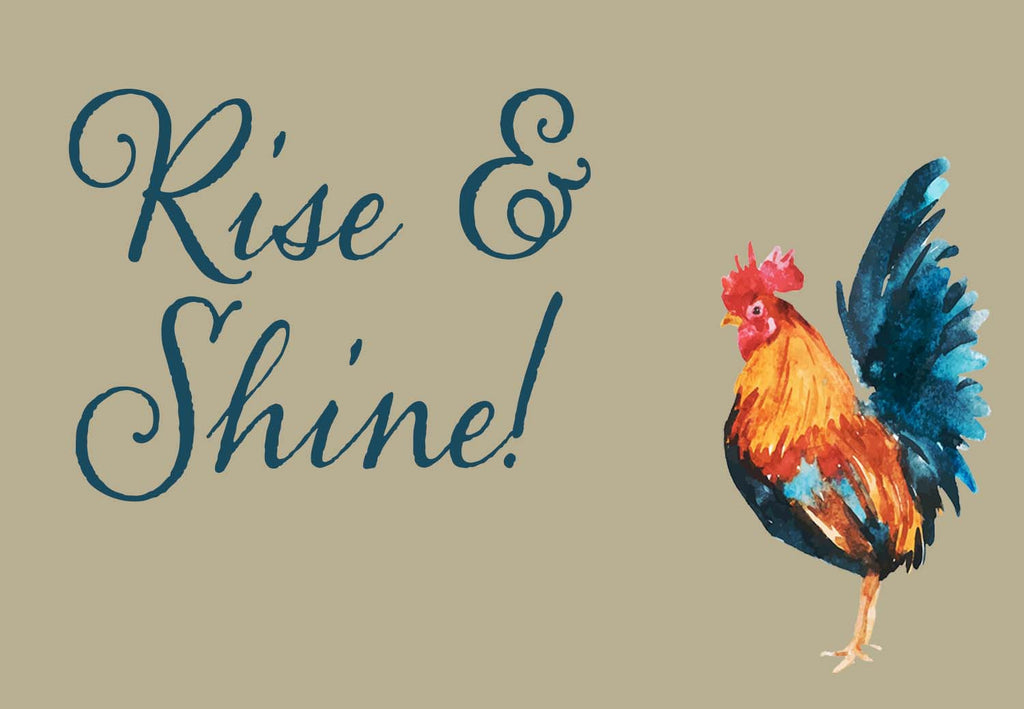 Rise & Shine Rooster Watercolor Vinyl Print