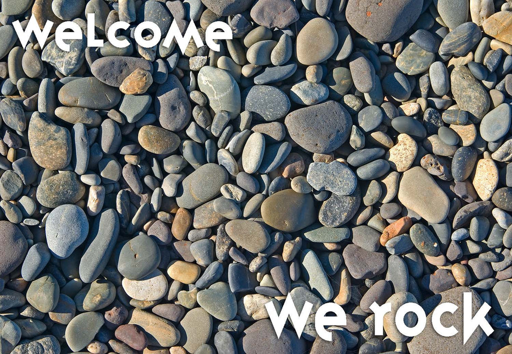 We Rock Welcome Mat