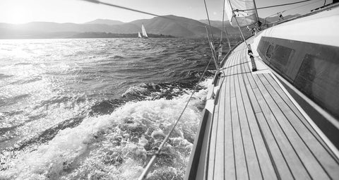 Sail On Black & White Vinyl Print