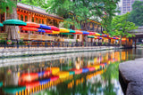 San Antonio, Texas Riverwalk Vinyl Print