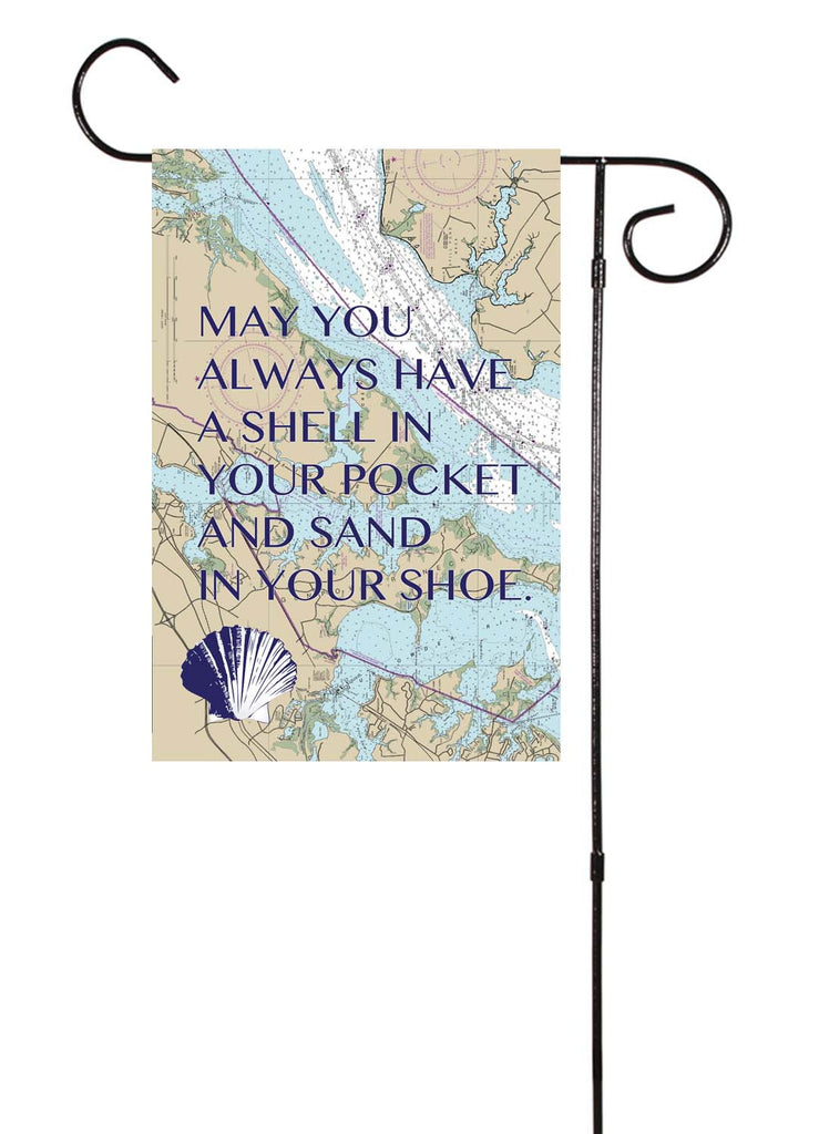 May You Always Have A Shell In Your Pocket Nautical Garden Flag