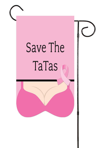 Save The TaTas - Breast Cancer Bikini Shaped Garden Flag