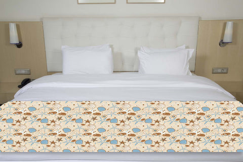Coastal Seashells Bed Runner