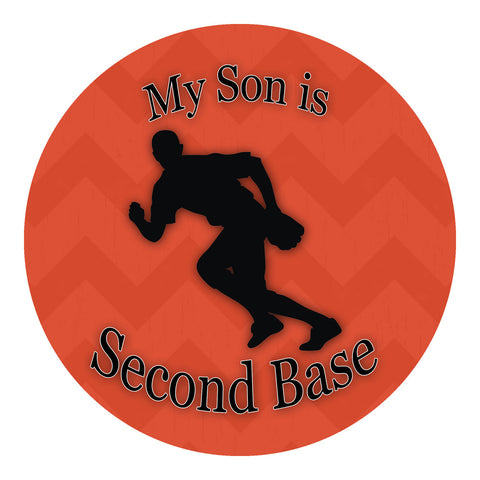 My Son Is Second Base Sticker