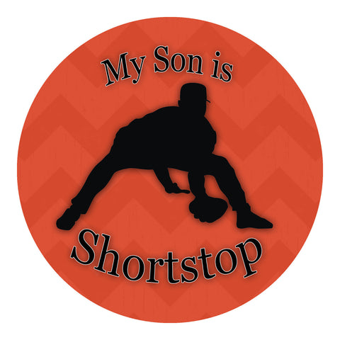 My Son Is Shortstop Sticker