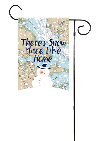 There's Snow Place Like Home Nautical Garden Flag