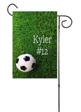 Soccer Custom Garden Flag