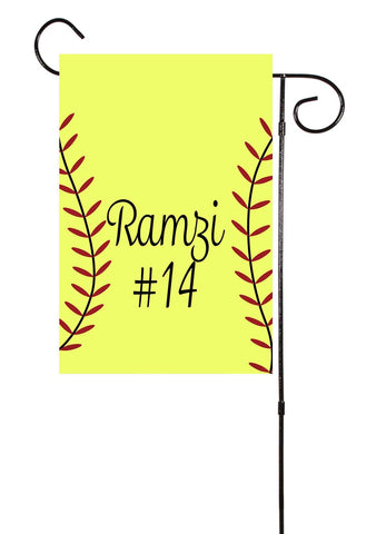 Softball Custom Garden Flag