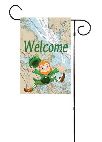 St. Patrick's Day Nautical Garden Flag