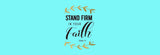 Stand Firm In Your Faith. Isaiah 7:9 Bed Runner