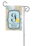 Welcome Summer - Sunshine Initial Nautical Garden Flag