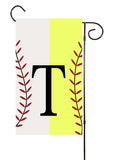 Softball and Baseball Initial Garden Flag