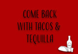 Tacos & Tequilla Welcome Mat