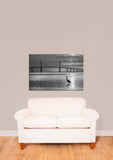 Tampa Fl Skyway Bridge Black & White Vinyl Print